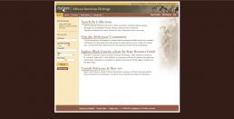 African American Heritage web page